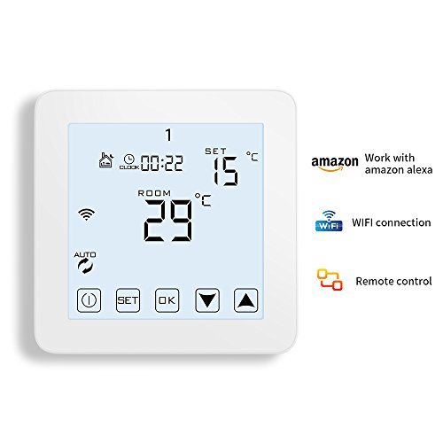 WiFi Thermostat, Programmable Touchscreen Smart Thermostat, Compatible with Alexa by CoolPai (Image #4)