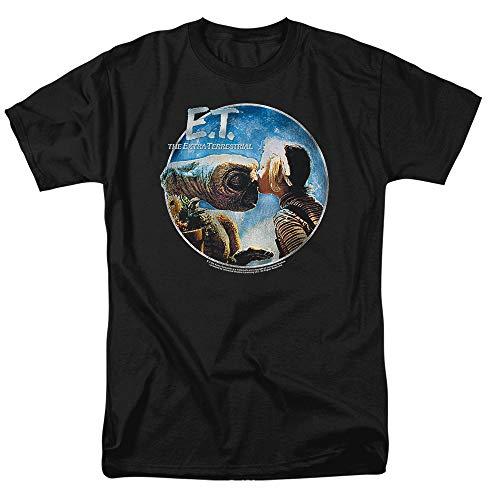 E.T. The Extra-Terrestrial Gertie Kisses T Shirt & Stickers (Medium) Black from Popfunk