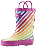 OAKI Kids Rubber Rain Boots with Easy-On