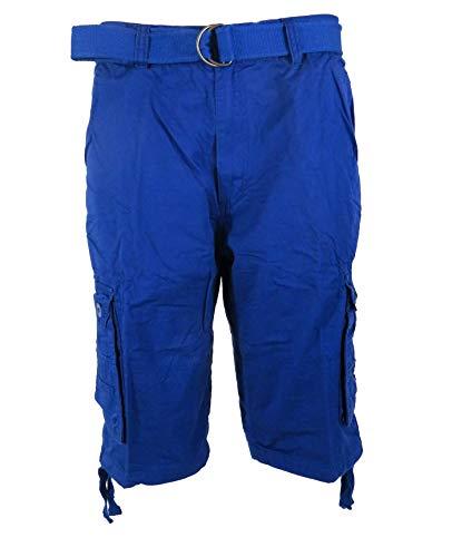 Tank Men's Light Twill Cargo Shorts, Royal Blue, 48