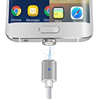 2 in 1 Magnetic Charging Cable, Stouch Magnetic Lightning and Micro USB Connector Adapter for iPhone 7 7 Plus 6 6S iPad Mini/Pro Samsung Galaxy S6 Edge HTC MOTO SONY Xperia