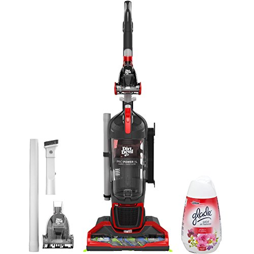 Dirt Devil Hepa Filter Carpet and Hard Floor Bagless Upright Vacuum Cleaner with Crevice Brush Tool and Air Freshener