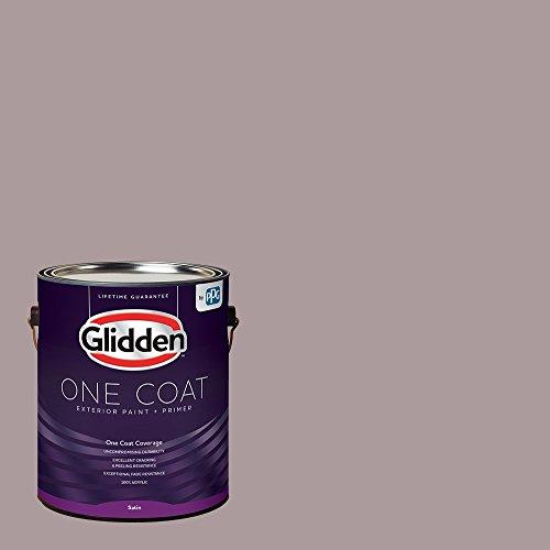 Glidden Exterior Paint + Primer: Purple/Coffee Custard, One Coat, Satin, ()