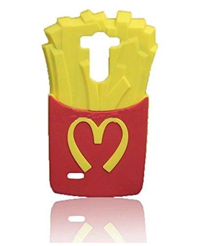 G3 S Case G3 Mini Case LG G3 Vigor Silicone Case,Bat King 3D Cute Cartoon McDonald's Fries Soft Silicon Gel Rubber Case Cover Skin for LG G3 Mini/G3 Mini/G3 Beat/G3s D725 D722(McDonald's Fries)