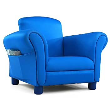 Merveilleux Tot Tutors Focus Comfy Reading Upholstered Chair With Book Storage   Blue