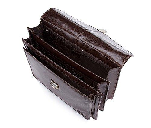 WITTCHEN Cartella, Marrone, Dimensione: 30x40 cm - Materiale: Pelle di grano - 21-3-145-4