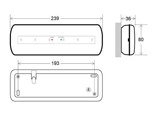 Permanente//No permanente Luz de emergencia LED NICELUX AUTO-TEST Blanco fr/ío