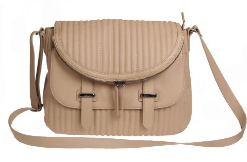 Charles Jourdan Kane Natural 100% Leather Shoulder Cross Body Bag Free Priority