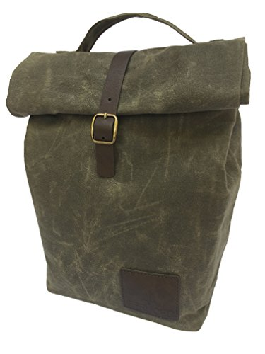 Insulated Waxed Canvas Lunch Bag For Men With Handle And Gen