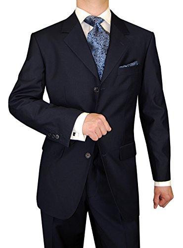 DTI GV Executive Italian Men's Wool Suit 3 Button 2 Piece Suits Jacket Trousers (50 Long US / 60L EU/W 44