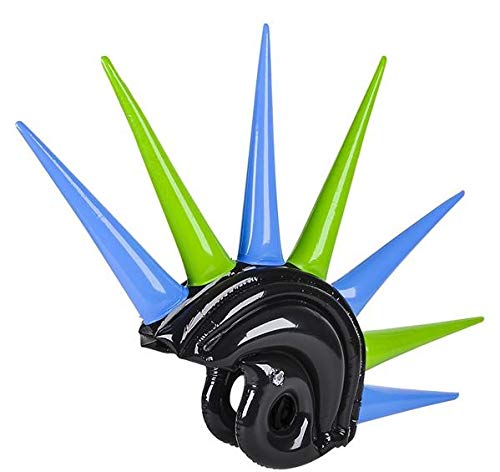 Rhode Island Novelty Inflatable Mohawk Helmet Assorted Colors (Novelty Helmet Hawk)