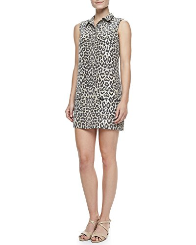 Leopard Print Silk Dress (Equipment Femme Women's Lucida Leopard-Print Silk Dress, Nude Multi, Medium)