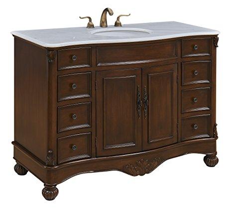 Bathroom  Cams | Elegant Design 48 Inch Single Bathroom Vanity Cabinet Set In Teak