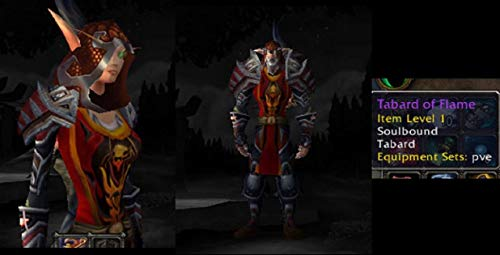 (Tabard of The Flame - RED WORLD OF WARCRAFT LOOT from TCG Landro Longshot)