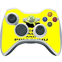 Trendy Accessories Funny Pikachu Quote Yellow Design Pattern Print Xbox 360 Wireless Controller Vinyl Decal Sticker Skin