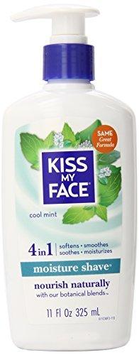 Kiss My Face Moisture Shave Shaving Cream, Cool Mint Shaving