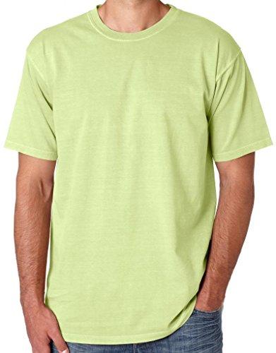 Mens 100% Cotton Pastel Color Tee Shirt, 2XL Celedon Green