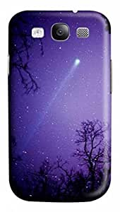 3D PC Case Cover for Samsung Galaxy S3 I9300 Custom Hard Shell Skin for Samsung Galaxy S3 I9300 With Nature Image- Meteor Shower