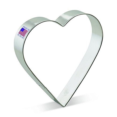 Ann Clark Heart Cookie Cutter - 5 Inches - Tin Plated Steel (Heart Shaped Cookie Cutter)