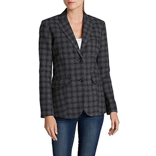 Classic Tall Wool - Eddie Bauer Women's Classic Wool-Blend Blazer - Pattern, Black Tall 10