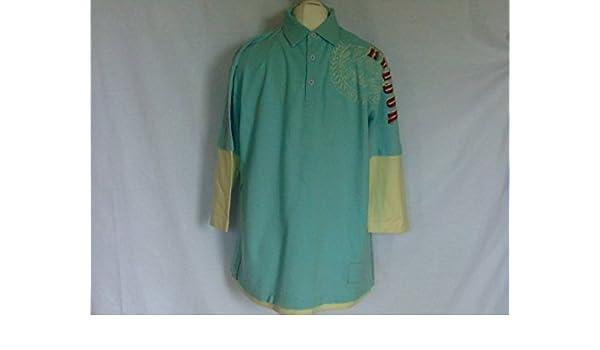 Reebok para Hombre Canton Aqua Azul Polo Camiseta Top Deportes ...