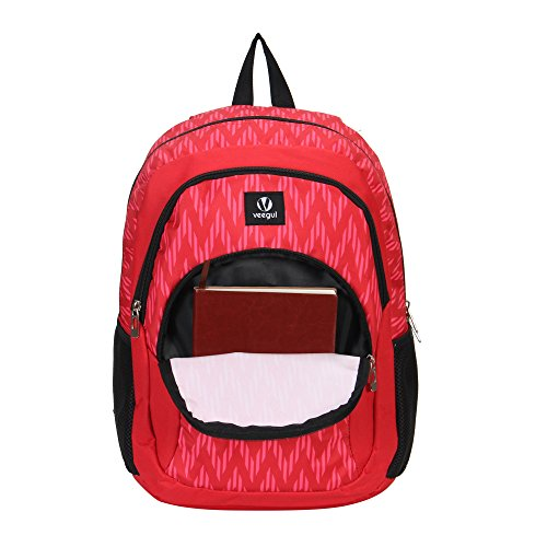 Veegul Cool Backpack Kids Sturdy Schoolbags Back to School Backpack for Boys Girls,Red by Veegul (Image #8)