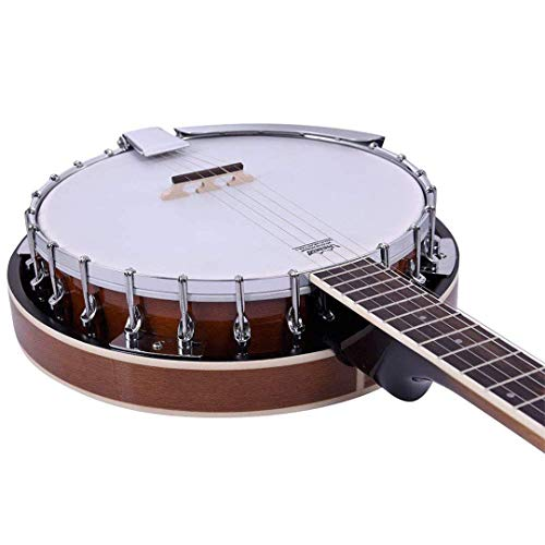 ADM 5-String Banjo 24 Bracket with Closed Solid Wood Back, Banjo Beginner Kit with Picks and Extra Strings by ADM (Image #6)