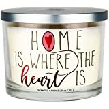 Aromascape Home is Where The Heart is 3-Wick Scented Candle, (Brown Sugar Pecan, Cinnamon Bark, and Nutmeg)