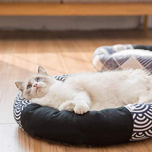 フェンコー柔らかく通気性 ペットのソファー、ペット用ベッド、ペットの巣、四季の普遍的な、ベルベットの猫用トイレ砂、カシミヤの猫用トイレ砂、リネンのペット用巣:55 * 8 Cm フェンコー柔らかく通気性