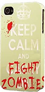 Keep Calm & Fight Zombies Dimensional Case Fits iPhone 5 or iPhone 5s
