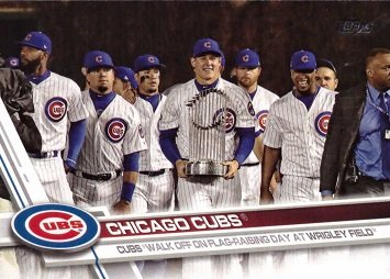 Amazoncom 2017 Topps Update Chicago Cubs Us44 Checklist Baseball