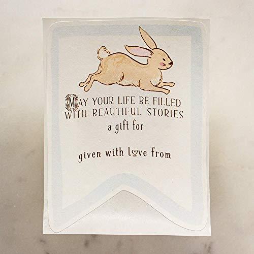 Blue Bunny Rabbit Baby Shower Bookplates Set of 20