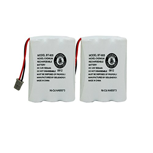 GEILIENERGY 3.6v 600mAhCordless Home Phone Rechargeable battery for Uniden BT-905 BT905 BT-800 BP-800 BP-905 (Pack of 2) ()