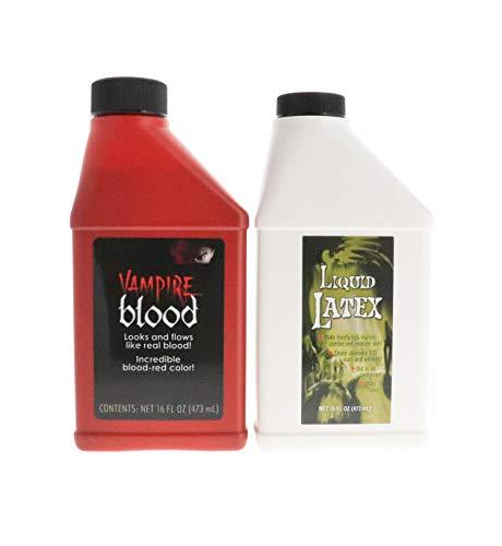 Fake Blood Liquid Latex Combo Kit