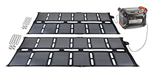 Ascent Solar™ 96 Watt Off-Grid Portable Solar Panel Charging System with 1200 Wh Large-Format Power Bank Battery