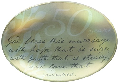 (Enesco This is the Day by Gregg Gift 50th Anniversary Glass Plate, 5