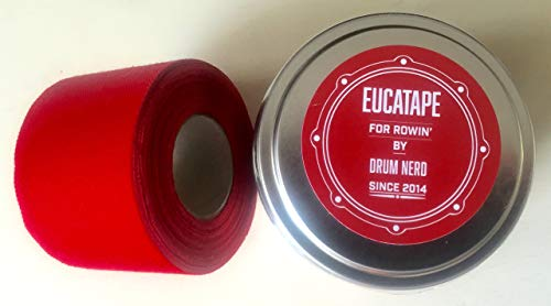 Drum Nerd Eucatape: Eucalyptus Infused Rowing Tape for Men & Women (Red) ()
