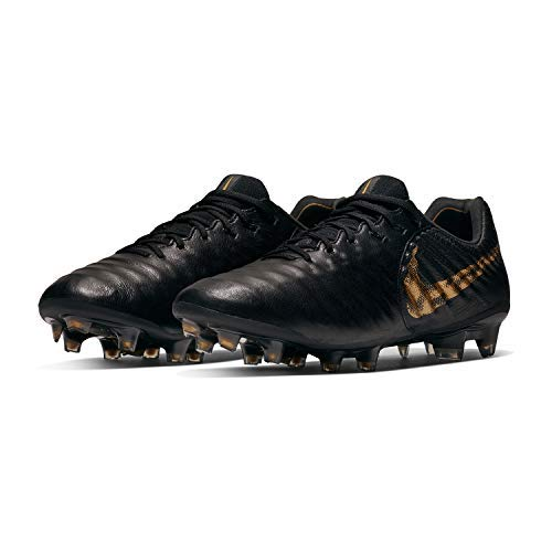 Nike Legend 7 Elite FG Black/MTLC Vivid Gold (Men's) (9 Men's US)