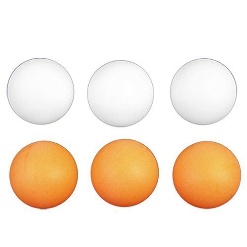 Dimart 6 Pieces 40mm Diameter Orange White Table Tennis Balls