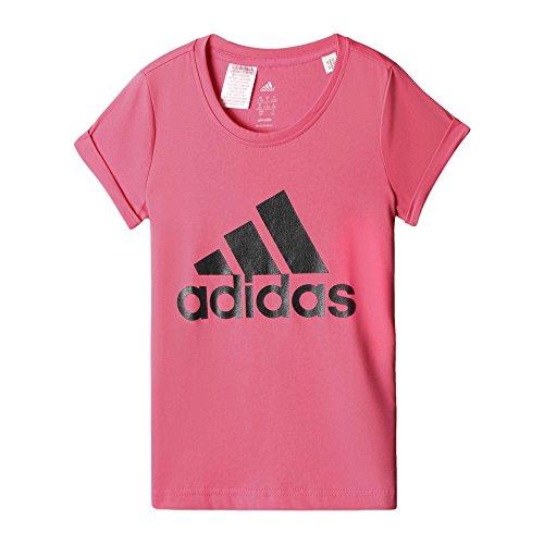 Adidas YG W B LOGO TEE T-Shirt für Mädchen, Rosa / Negro, 170