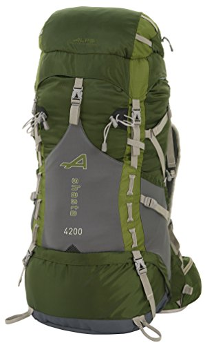 adf77bb674e ALPS Mountaineering Shasta 4200 Internal Frame Pack-Green