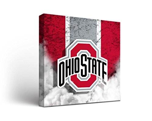 Victory Tailgate Ohio State OSU Buckeyes Canvas Wall Art Vintage Design (12x12)