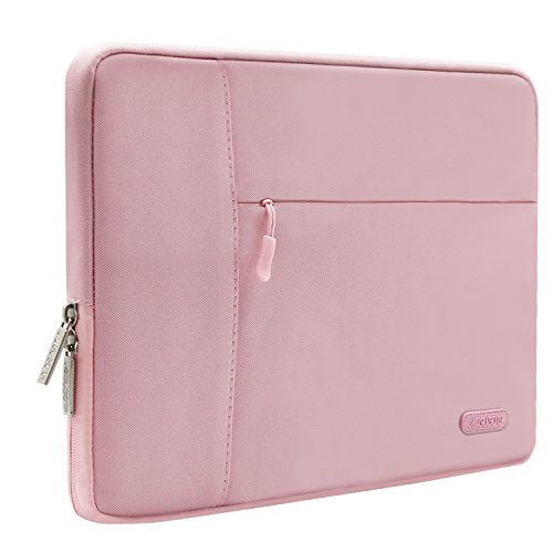 Mosiso-Laptop-Sleeve-Case-Bag-for-13-133-Inch-MacBook-Pro-MacBook-Air-Notebook-Polyester-Fabric-Multifunctional-Protective-Carrying-Cover-Pink