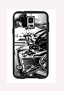 Case Cover Design Cycling Sport Extreme CY02 for Samsung S5 Border Rubber Silicone Case Black@pattayamart
