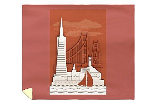 San Francisco, California - Shadow Box (88x104 King Microfiber Duvet Cover) (Shadow Box Pottery Barn)