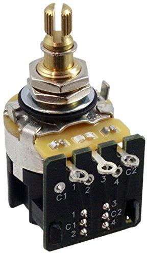 amazon com cts 250k push pull split shaft audio dpdt potentiometer cts 250k push pull split shaft audio dpdt potentiometer