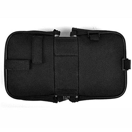 Fahrradtasche SCHWARZ Gepäckträgertasche Satteltasche, Tasche Doppel Seitentasche