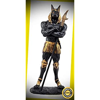 "Large 20/""H Anubis Egyptian God of Underworld Statue Indoor Collectible"
