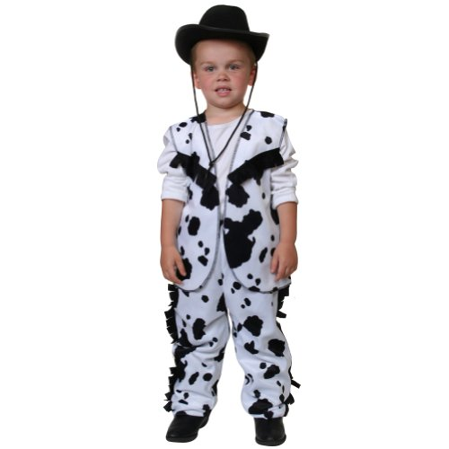 Black & White Cow Print Cowboy Costume (6/8)