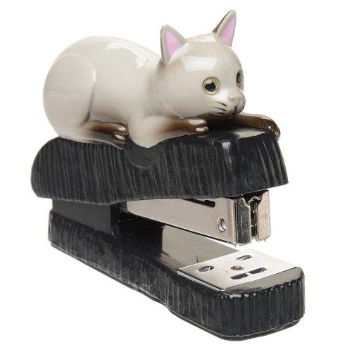 Gray Cat Stapler by Cosa Nova